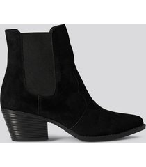 trendyol faux suede ankle boots - black