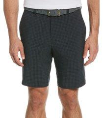 pga tour men's stretch tonal-plaid golf shorts