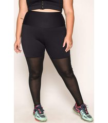 calça almaria plus size wonder size legging meia calça marte preto