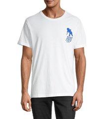 prps men's clio logo t-shirt - white - size xxxl