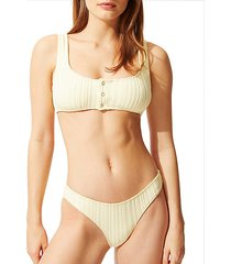 the elle textured stripe bikini top