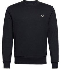 crew neck sweatshirt sweat-shirt tröja blå fred perry