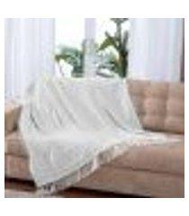 manta para sofá lisboa - 150 x 140 cm cinza