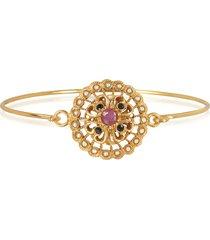 alcozer & j designer bracelets, mandala bracelet w/semi precious stones