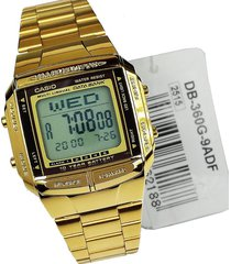 reloj casio db-360g-9a retro digital unisex dorado