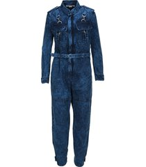 stella mccartney bleached denim jumpsuit