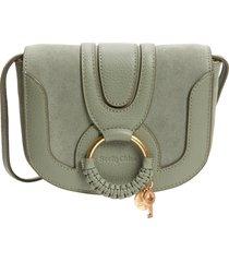 see by chloe mini hana leather bag - green