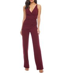 women's dress the population sam ruched jumpsuit