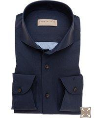 tailored fit overhemd john miller donkerblauw