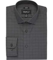 awearness kenneth cole black & charcoal plaid slim fit dress shirt