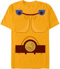 disney men's hercules chest costume short sleeve t-shirt short sleeve t-shirt