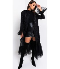 akira rule the world pleated lace trench coat