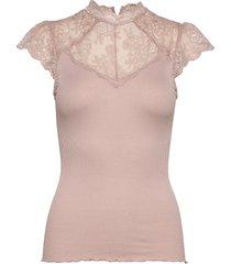 silk t-shirt regular ss w/lace blouses short-sleeved rosa rosemunde