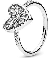 anel coração de neve