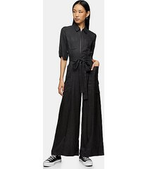 *charcoal grey utility jumpsuit by topshop boutique - charcoal