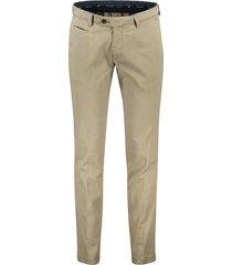 portofino pantalon slim fit khaki flatfront