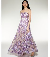 laundry by shelli segal embellished sweetheart gown