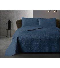 koc pled narzuta na łóżko 180x250 cm niebieska