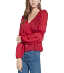 guess azell ruffled top