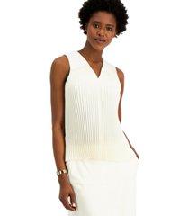 alfani petite sleeveless pleated top, created for macy's