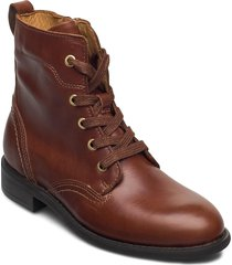 ainsley mid lace boot shoes boots ankle boots ankle boot - flat brun gant