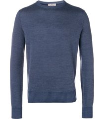 canali long-sleeve fitted sweater - blue