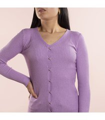 buzo tejido de mujer violeta cosmos