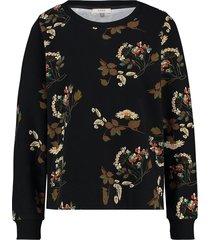 l.o.e.s. 20194 9013 loes hornbeam flower sweater black/sand zwart