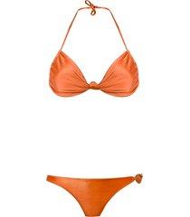 adriana degreas triangle bikini set - yellow