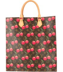 louis vuitton pre-owned cherry sac plat tote bag - brown
