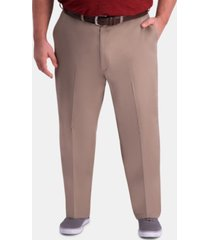 haggar men's big & tall classic-fit khaki pants