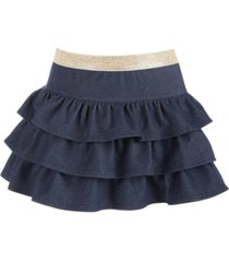 epic threads toddler girls tiered denim skirt, created for macy's