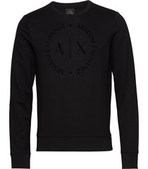 man jersey sweatshirt sweat-shirt trui zwart armani exchange