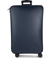 checkered spinner suitcase