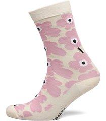 hieta unikko socks lingerie socks regular socks beige marimekko