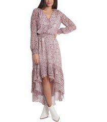 1.state printed asymmetrical midi dress