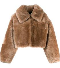 blancha teddy bomber jacket - neutrals