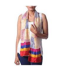 silk scarf, 'adventurous life' (india)