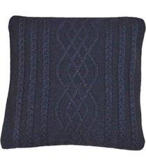 capa almofada tricot 45x45cm c/zãper sofa trico cod 1026 preto - preto - feminino - dafiti