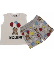 teddy bear cotton set with tank top & sweatshorts