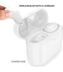audífonos bluetooth gemelos con caja de carga - blanco