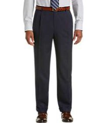joseph & feiss navy classic fit pleated dress pants