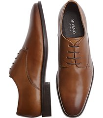 mivano fellini cognac plain toe lace up dress shoes
