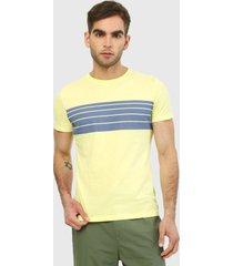 camiseta amarillo-azul gap