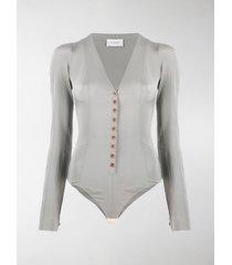 lemaire long-sleeve silk bodysuit