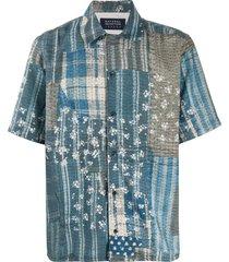 natural selection panama shirt - blue