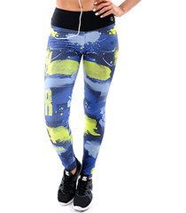 calça mama latina legging sublimada azul