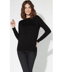pullover manica lunga girocollo basic