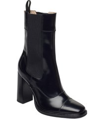 tim shoes boots ankle boots ankle boot - heel svart tiger of sweden