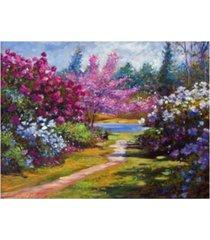 "david lloyd glover the glory of spring canvas art - 37"" x 49"""